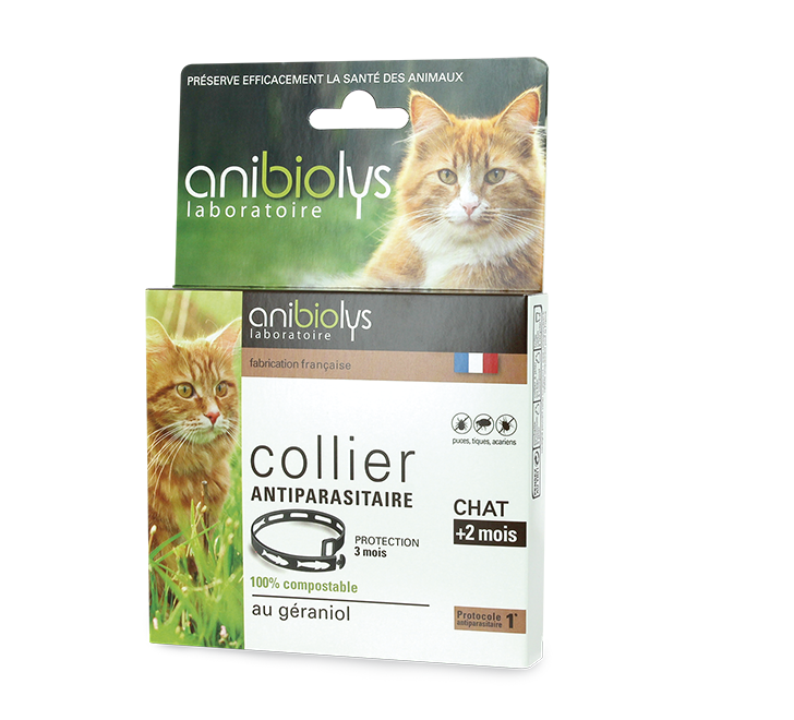 Collier antiparasitaire chat Anibiolys