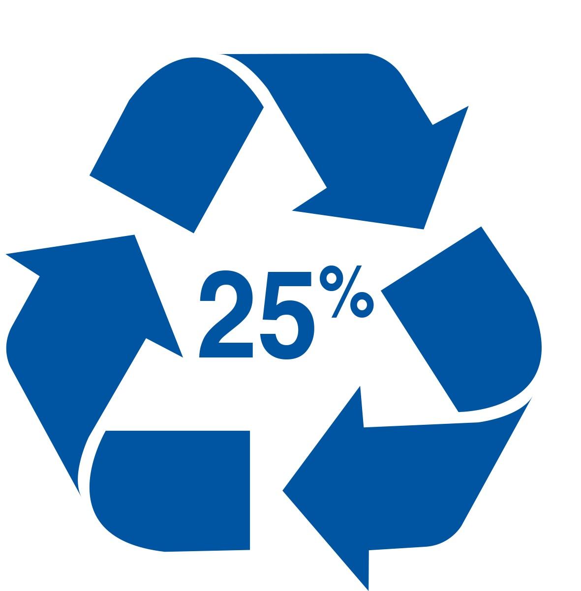 25% plastique recyclé