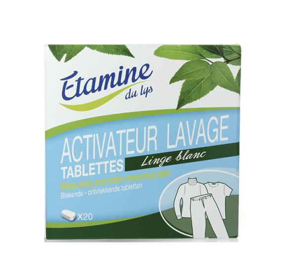 Tablettes activateur de lavage Etamine du lys