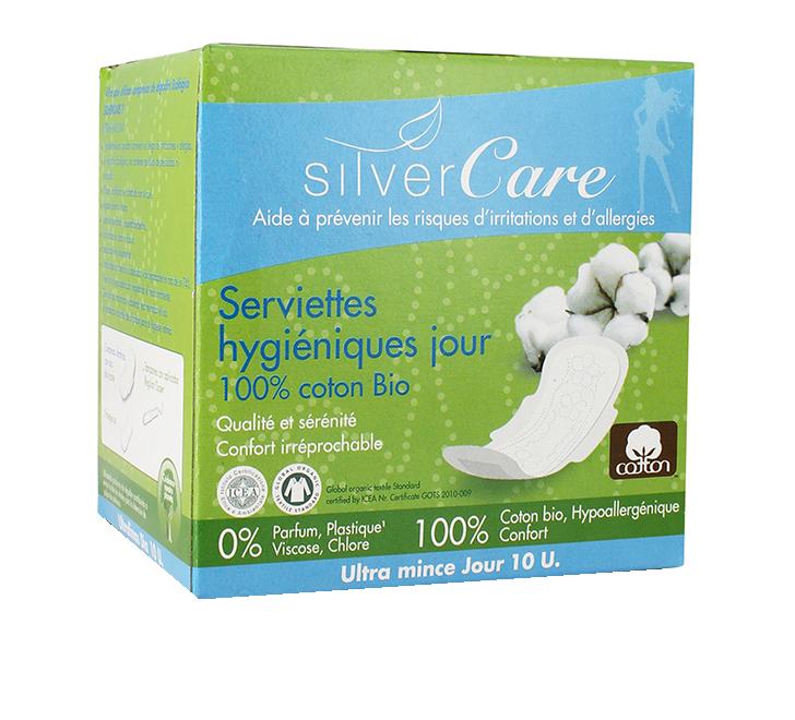Serviettes hygiéniques jour - Silver Care