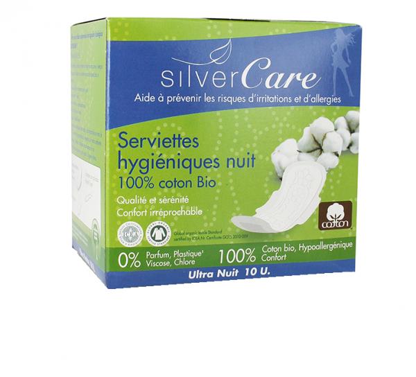 Serviettes hygiéniques nuit - Silver Care