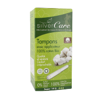 Tampon super avec applicateur - Silver Care