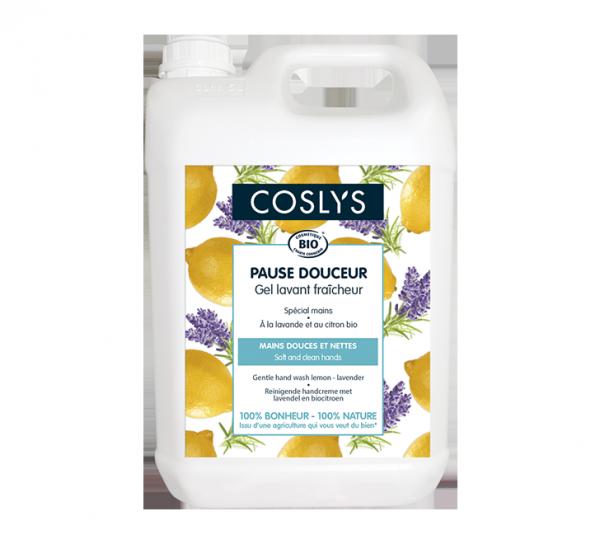 Gel lavant mains lavande-citron 5L Coslys