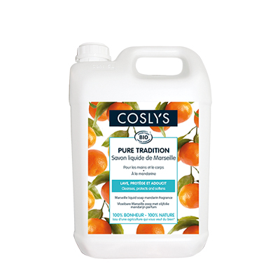 Savon marseille mandarine 5L - Coslys