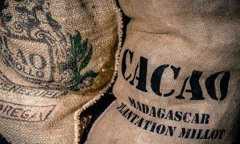 Sac de cacao en toile de jutte