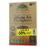 Allume-feu naturel If You Care - lot de 2