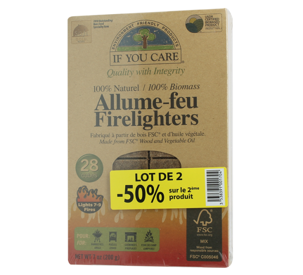 Allume-feu naturel If You Care - lot de 2