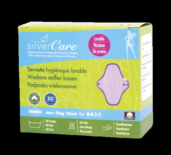 serviette jour lavable silvercare